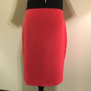 NWT Maurices Coral Midi Pull-on Skirt